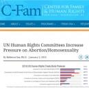 La ONU aumenta sus presiones a favor del aborto y la agenda homosexualista